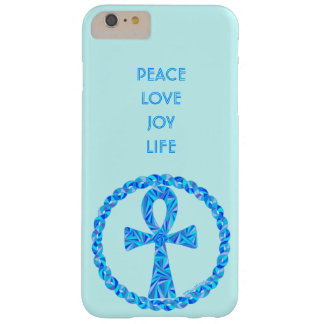 Z Blue Ankh Symbol Ancient Egypt Wicca Barely There iPhone 6 Plus Case