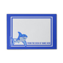 Z Blue Great White Shark Colorful Sea Animal Post-it Notes