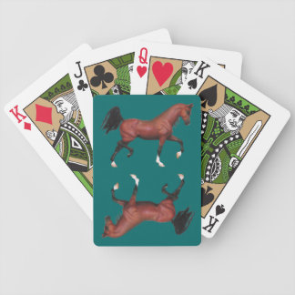 Z Brown Bay Horse Pony Lover Bicycle Playing Cards