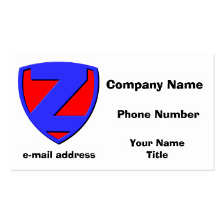 Z BUSINESS CARD TEMPLATES