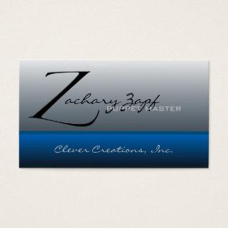 Z Button Sytle - Zapfino Business Card