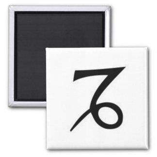 z-Capricornio-símbolo Imán Cuadrado