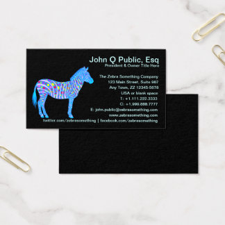 Z Customize These Fun Zebra Business Cards