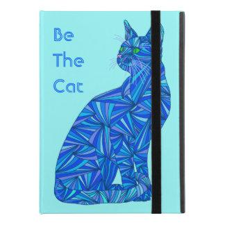 """Z Cute Blue Cat Be The Cat Fun Cat Lover iPad Pro 9.7"""" Case"""