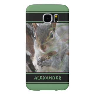 Z Cute Squirrel With Peanut Woodland Nature Rodent Samsung Galaxy S6 Case