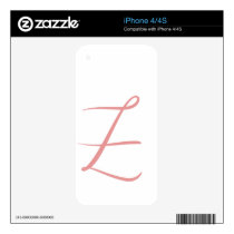 Z DECAL FOR iPhone 4