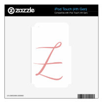 Z DECAL FOR iPod TOUCH 4G
