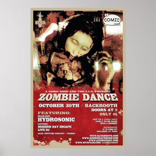 Z.E.D. Zombie Dance Poster