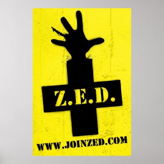 Z.E.D.: Zombie Safe Zone Poster
