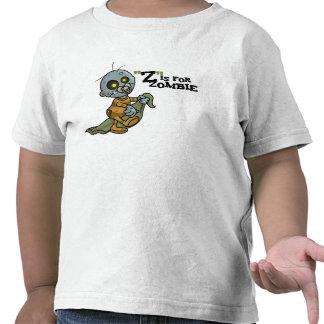 """""""Z"""" está para el zombi con el niño combinado (de Camiseta"""
