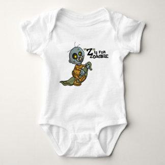 """""""Z"""" está para el zombi con la enredadera combinada Mameluco De Bebé"""
