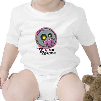 Z está para el zombi con la enredadera del pacif trajes de bebé
