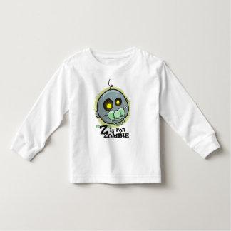 """""""Z"""" está para el zombi con la manga larga del T-shirts"""