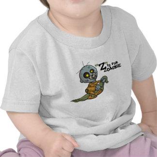 """Z"" está para la camiseta infantil del zombi (much"