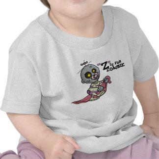 """Z"" está para la camiseta infantil del zombi"