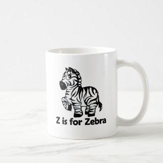 Z está para la cebra tazas