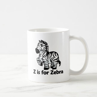 Z está para la cebra taza clásica