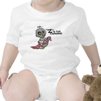 Z está para la enredadera infantil del zombi ch camisetas