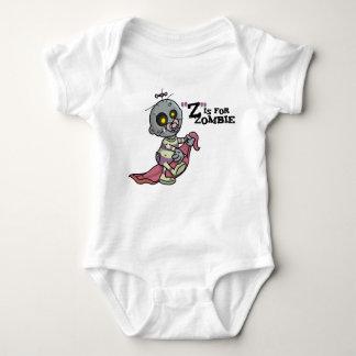 """""""Z"""" está para la enredadera infantil del zombi Remeras"""
