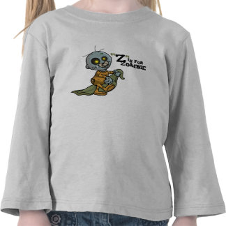 """Z"" está para la manga larga del zombi (muchachos) Camiseta"