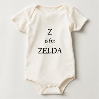 Z está para Zelda Body Para Bebé