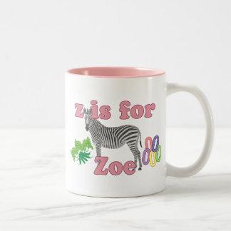 Z está para Zoe Taza
