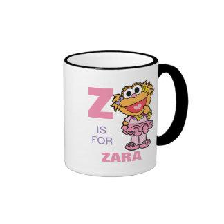 Z está para Zoe Taza De Dos Colores