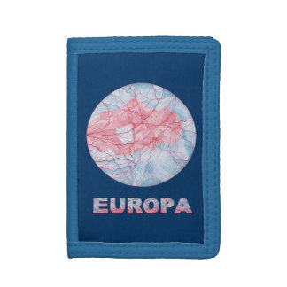 Z Europa Jupiters Moon Fun Geeky Art Billfold Tri-fold Wallets