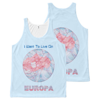 Z Europa Jupiters Moon Space Geek Colorful Custom All-Over Print Tank Top