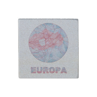 Z Europa Jupiters Moon Space Geek Colorful Fun Stone Magnet
