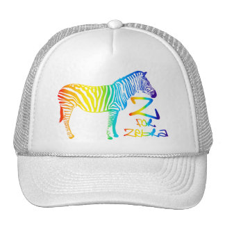 Z for Zebra Mesh Hats