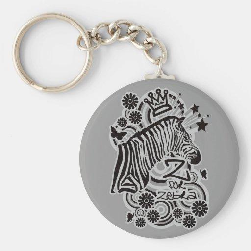 Z for Zebra Key Chain