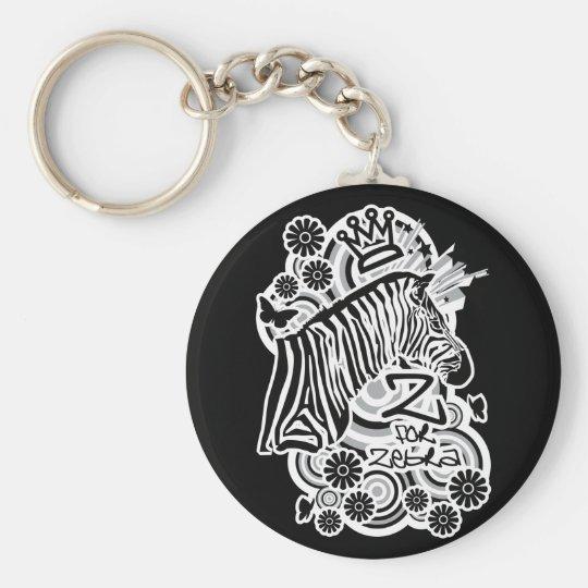 Z for Zebra Keychain