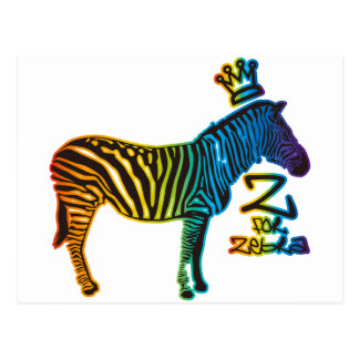 Z for Zebra Postcard