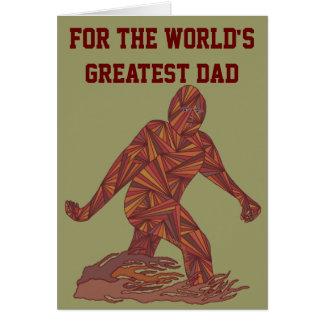 Z Fun Bigfoot Sasquatch Yeti World's Greatest Dad Greeting Card