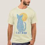 Z Fun & Cute Fur Parent Colorful Cat Dad Tee Shirt