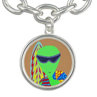 Z Fun LGM Alien Vacation Beach Geek Humor Custom Bracelets