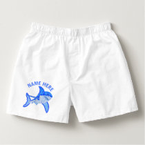 Z Great White Shark Colorful Sea Animal Boxers