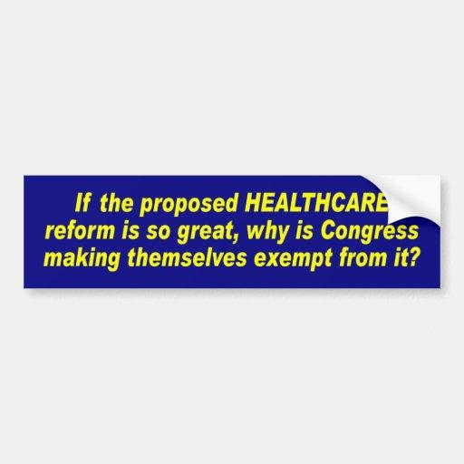 Z_healthcare_reform Pegatina De Parachoque