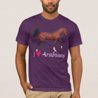 Z I Heart Arabians Love Arabians Horse Art Tee