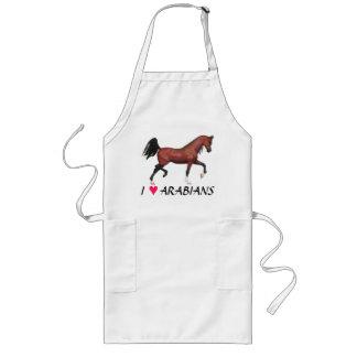 Z I Love Arabians Trotting Bay Horse Long Apron