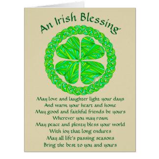 Z Irish Blessing Celtic Shamrock Card