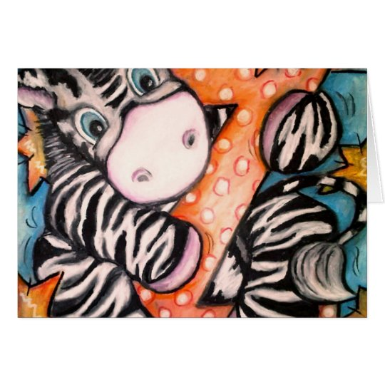 Z is for Zebra Card