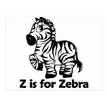 Z is for Zebra Post Cards