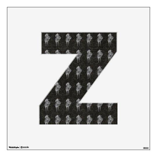 Z Is for Zebra Wall Sticker