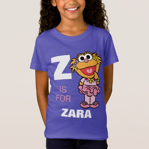Z is for Zoe  Add Your Name T_Shirt