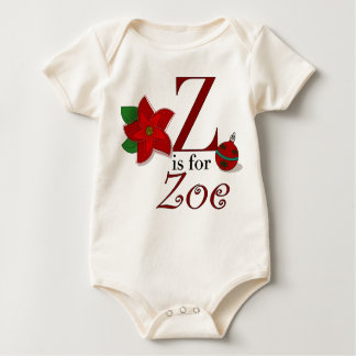Z is for Zoe, Baby's First Christmas T-shirt