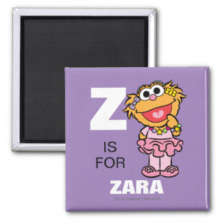 Z is for Zoe 2 Inch Square Magnet
