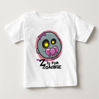 """Z"" is for Zombie w/ Pacifier Girls Infant T-Shirt"