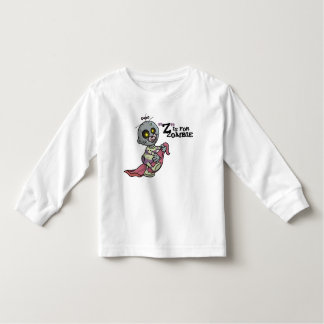"""Z"" is for Zombie with Blanket (girls) Long Sleeve Toddler T-shirt"